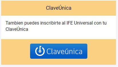 ingresar IFE universal con clave única