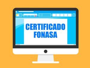 Certificado afiliación Fonasa