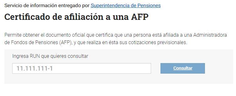 certificado de AFP