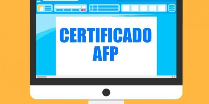 Certificado de afiliación de AFP